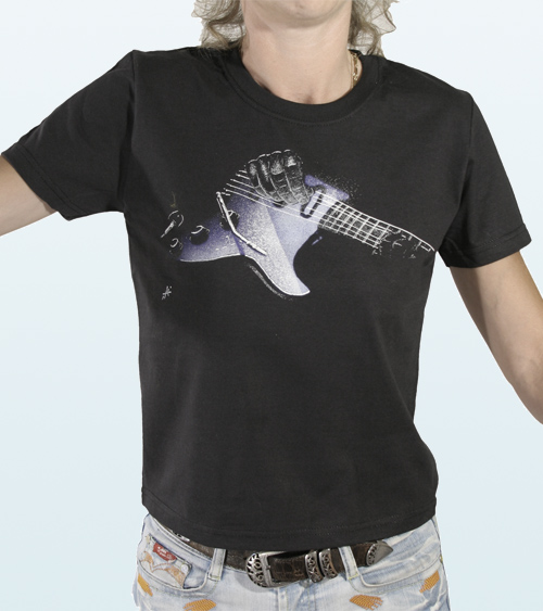 Waisted Tee-Shirt Électric Guitare