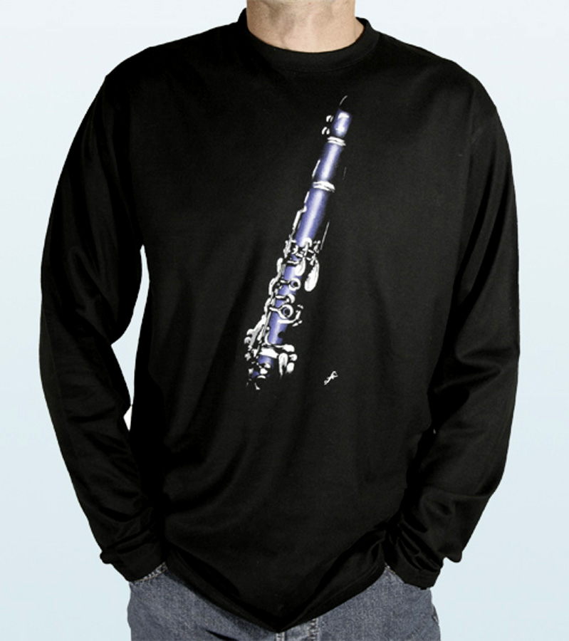 Tee-Shirt long sleeves with CLARINET Design