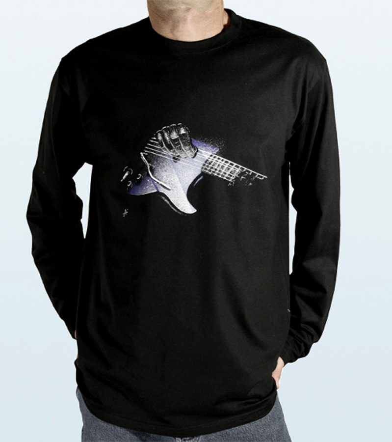 Tee-Shirt long sleeves with ÉLECTRIC GUITAR Design