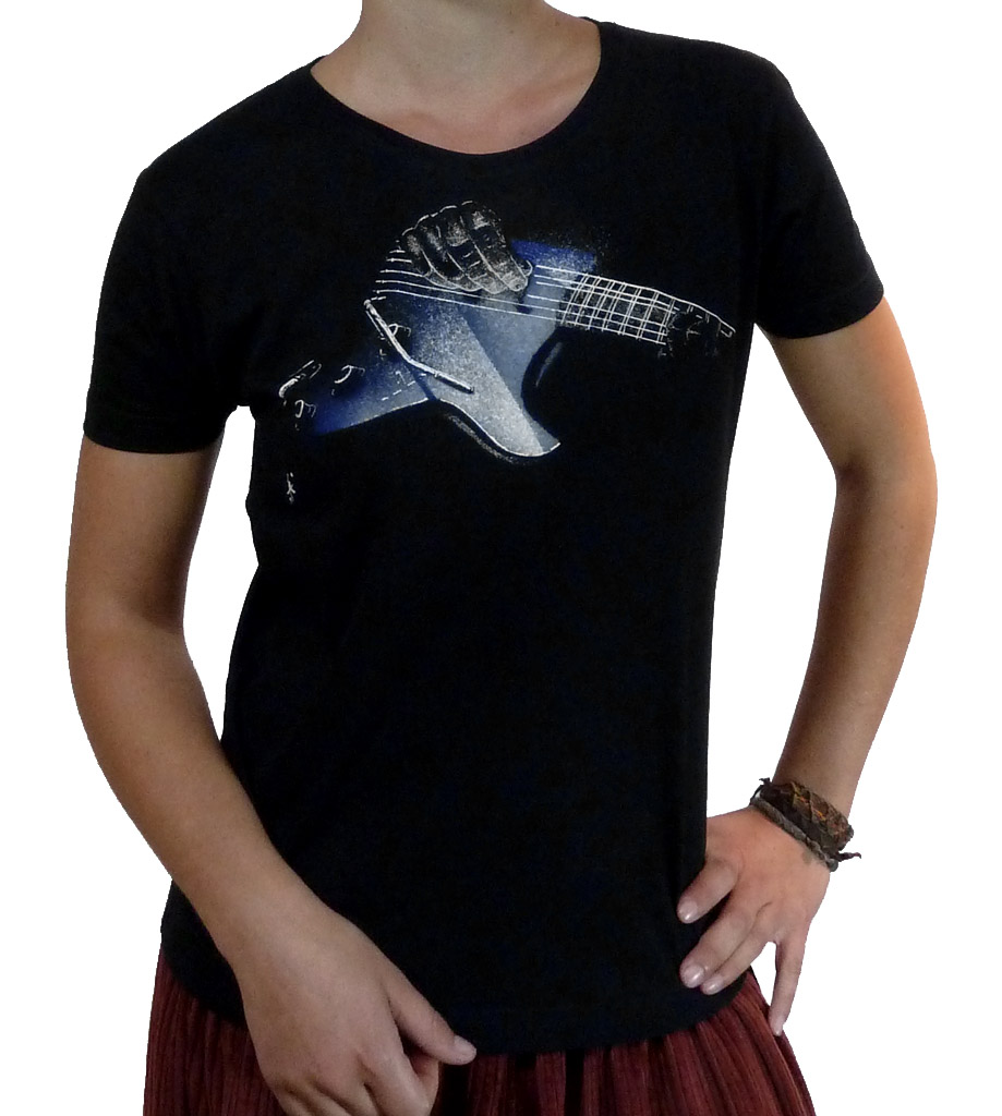 T-Shirt Classic Femme Guitare Stratocaster