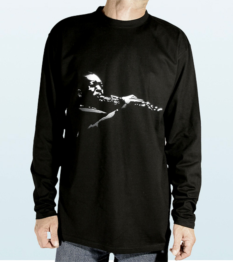 Tee-Shirt long sleeves with John Coltrane Design