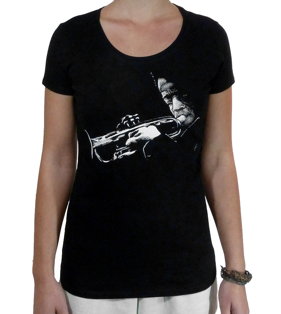 Woman T-Shirt Wide Neckline Miles Davis