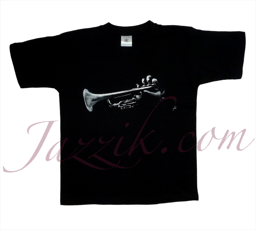 Kid's T-shirt with white Trumpet